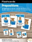 Prepositions Flashcards / Set of 14 / Printable