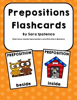 Prepositions Flashcards: Words That Show Location