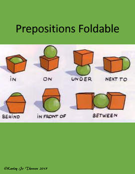 Prepositions Foldable