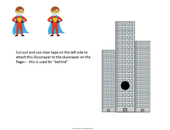 Prepositions: Following Directions Interactive Mats and Task Cards (Special Ed.)
