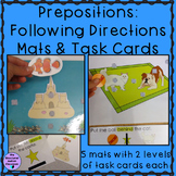 Prepositions Following Directions Interactive Mats and tas