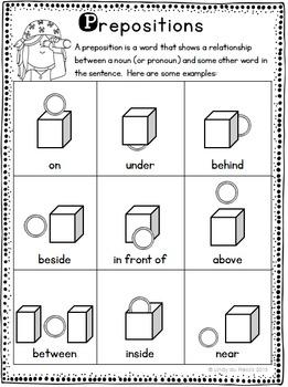 Prepositions Freebie