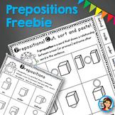 Prepositions Worksheet Freebie