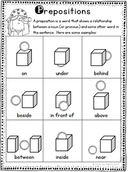 Prepositions Worksheet Freebie by Lindy du Plessis | TpT