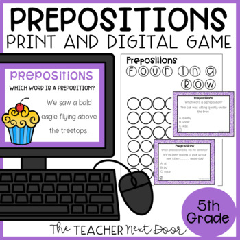 Prepositions Game | Prepositions Center | Prepositions Activities