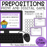 Prepositions Game Print and Digital Distance Learning