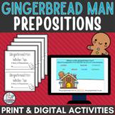 Gingerbread Man Prepositions Holiday Activity | Digital plus printable book