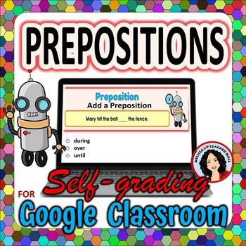 Prepositions Google Classroom Digital File