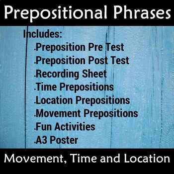 Prepositions Phrases with Poster