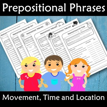 Prepositions Grade 2,3,4,5 with Poster