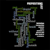 Prepositions - Grammar Word Art Poster Prints