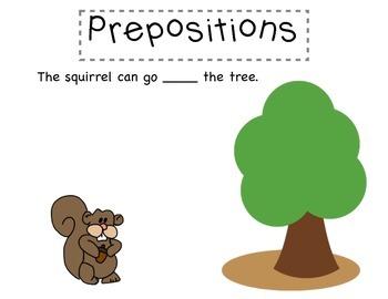 Prepositions Graphic Organizer