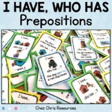 I Have Who Has Game - Prepositions