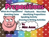 Prepositions: Input, Games, Activities and Worksheets
