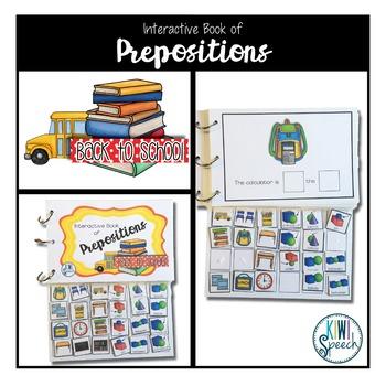 Prepositions Interactive Book {BACK TO SCHOOL}