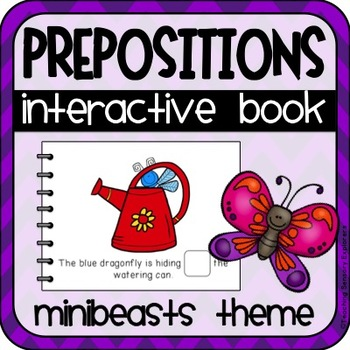 Prepositions Interactive Adapted Book (Minibeasts)