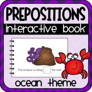 Prepositions Interactive Adapted Book (Ocean Theme)