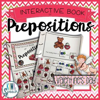 Prepositions Interactive Book {VALENTINE'S DAY}