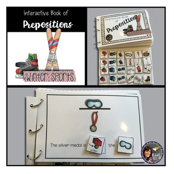 Prepositions Interactive Book {WINTER SPORTS}