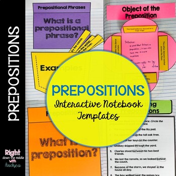 Prepositions: Interactive Notebook Templates