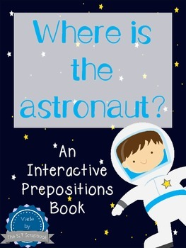 Prepositions - Interactive book - Space theme.