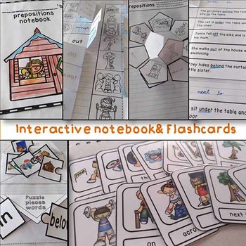 Prepositions - Interactive notebook and flashcards