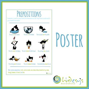Prepositions Intro for Young Students (Cat Theme)