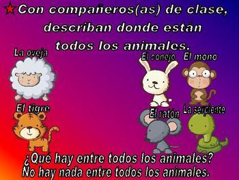 Prepositions (Las preposiciones) Power Point in Spanish (44 slides)