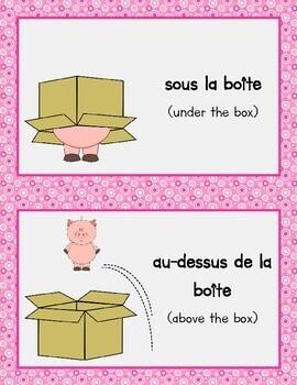 Prepositions - Les Prépositions (Bilingual English - French)