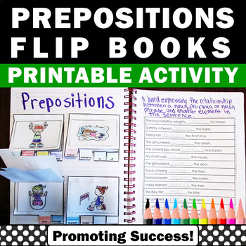 Preposition Interactive Notebook with Pictures, Prepositions Activities