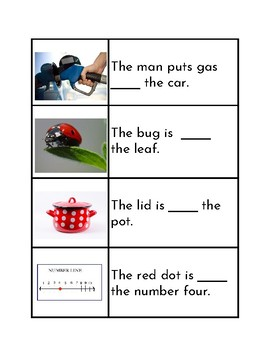 Prepositions Match - On & In