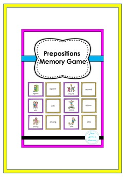 Prepositions Memory Game