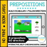 Prepositions BOOM Cards™️ Speech Therapy Distance Learning