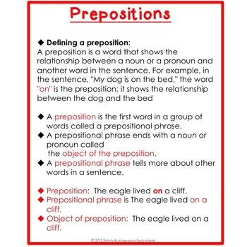 Prepositions:  Over the Bridge