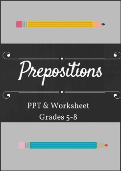 Prepositions PPT, Worksheet, and Quiz