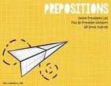 Prepositions Pack: Prepositions List, Practice, and QR Game