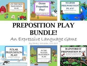 Prepositions Play Bundle - Expressive Language Games for Speech
