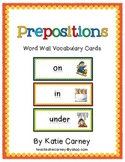 Prepositions (Position Words) - Word Wall Vocabulary Cards