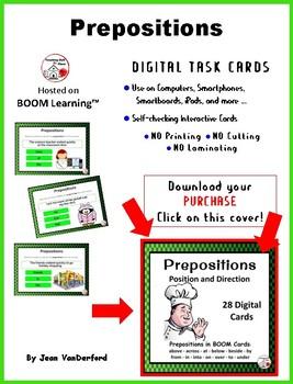 DIGITAL Prepositions: Position and Direction ... Grammar: BOOM™ Internet Cards