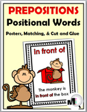 Prepositions / Positional Words Posters, Matching, Cut & P