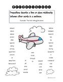 Prepositions Poster Chart Handout