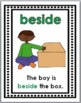 Prepositions - Positional Words Posters