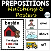 Preposition Posters and Matching Activity for Positional Words
