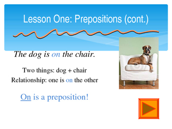 Prepositions - PowerPoint