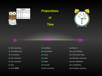 Prepositions Powerpoint Introduction