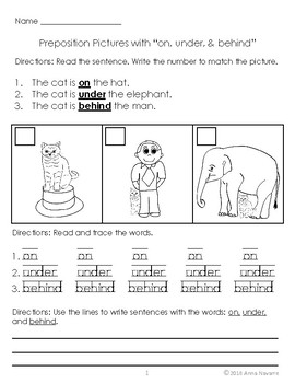 Prepositions Practice with Pictures