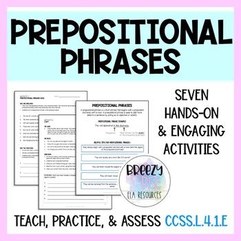 Prepositions & Prepositional Phrases Activities Unit