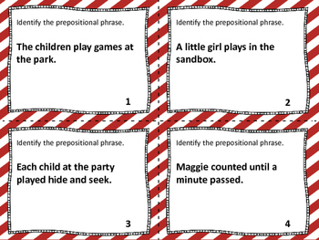 Prepositions & Prepositional Phrases Task Cards, Board Game & SCOOT