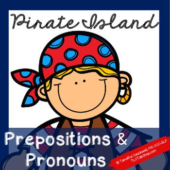 Prepositions & Pronouns on Pirate Island