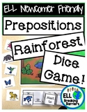 Prepositions: Rainforest Dice Game, ELL Newcomer Friendly